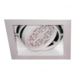 DOWNLIGHT CUADRADO BLANCO PARA PAR30 E27