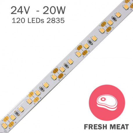TIRA LED 24V ESPECIAL CARNE 20W/m FRESH MEAT